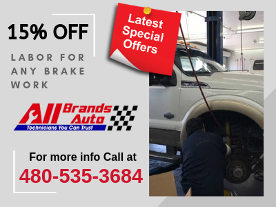15% off labor for any brake work